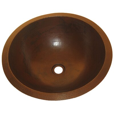 Caracas Undermount Copper Bathroom Sink by Novatto