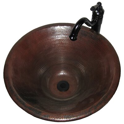 Novatto Seville Tall Copper Vessel Bathroom Sink
