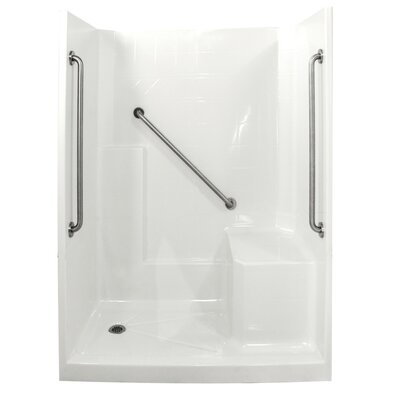 Standard Plus 36 Low Threshold System 3 Panels Shower Wall Product Photo