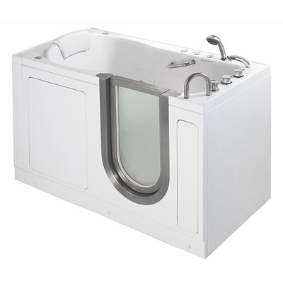 "55"" x 30"" Deluxe Massage Whirlpool Walk In Tub Product Photo"