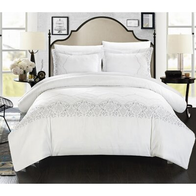 Sophia Embroidered Bridal Duvet Set by Chic Home