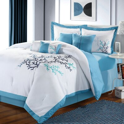 Coral Reef 8 Piece Comforter Set by Chic Home