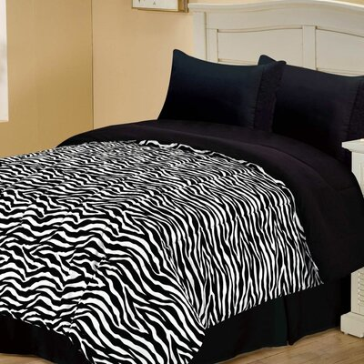 Chic Home Zebra Style Reversible Comforter