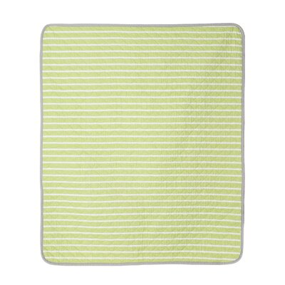 Julian Gray Stripe Crib Quilt by CoCaLo