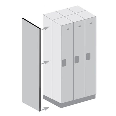 Salsbury Industries Double End Side Panel without Sloping Hood