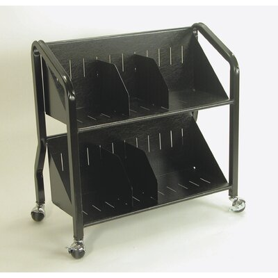 Buddy Products 2 Shelf Sloped Book Cart