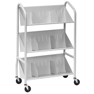 Buddy Products Sloped-Shelf Book Cart