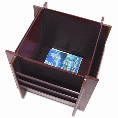 "Buddy Products Buddy Products Reception 23.25"" W Square Magazine Holder"