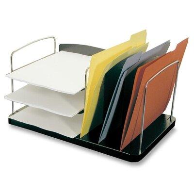 """Buddy Products Desk Combo Organizer,Vert./Horz. Pckts,6-1/4""""x11""""x8-1/4"""",BK"""