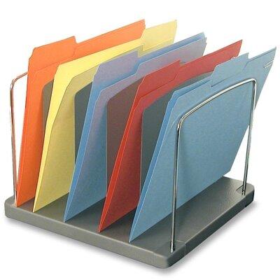 "Buddy Products Desk Tray,5-Pocket,Vertical,11-1/8""x10-5/8""x8-3/8"",Black"