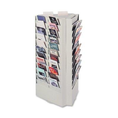 Buddy Products 66 Pocket Rotating Brochure / Pamphlet Display Rack