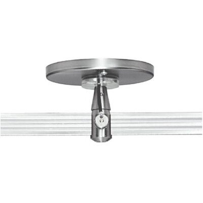"""Two Circuit MonoRail 4"""" Round Single Feed Power Feed Canopy by Tech Lighting"""