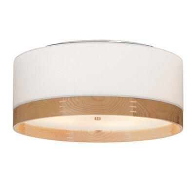 Tech Lighting Topo Flushmount Ceiling- Heather Grey/Walnut wood/Anique Bronze