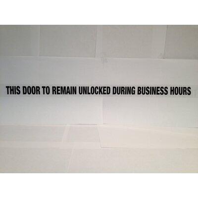 DON-JO MFG INC. Door Decal