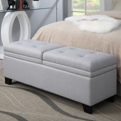 pri lilac fields upholstered bedroom storage bench