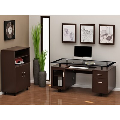 Z-Line Designs Ayden 2-Piece Standard Desk Office Suite