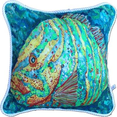 My Island Striped Grouper Indoor/Outdoor Throw Pillow