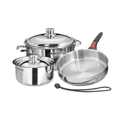 Nestable Induction Cook-Top 7 Piece Cookware Set by Magma Products