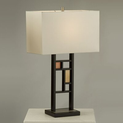 "Nova Colored Windows 28"" H Table Lamp with Rectangular Shade"
