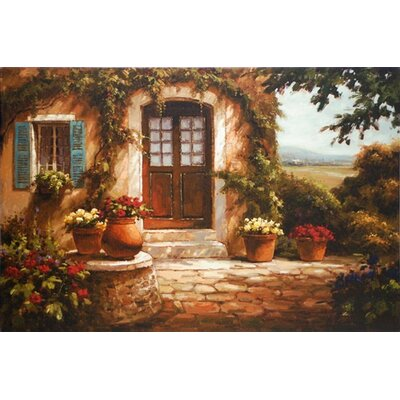 North American Art 'Pastoral Retreat' by Steven Harvey Painting Print on Wrapped Canvas