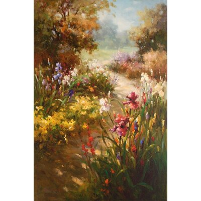 'Iris in Bloom' by Vera Oxley Painting Print on Wrapped Canvas by North American Art ...