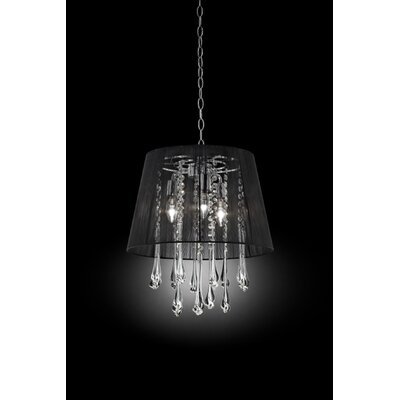 Nightfall Crystal Ceiling 3 Light Pendant by OK Lighting