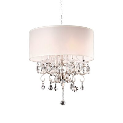 6 Light Crystal Chandelier Product Photo