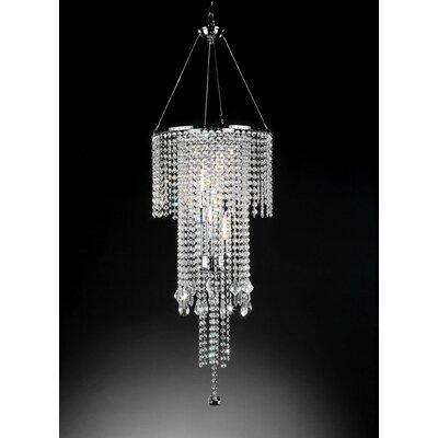 Rain 5 Light Crystal Chandelier Product Photo