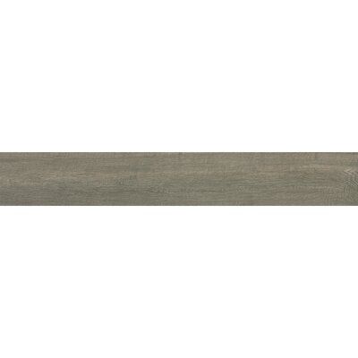 "Samson Urban 6"" x 36"" Porcelain Wood Tile in Grey"
