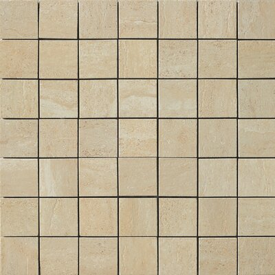 Samson Travertini Porcelain Mosaic Tile in Cream