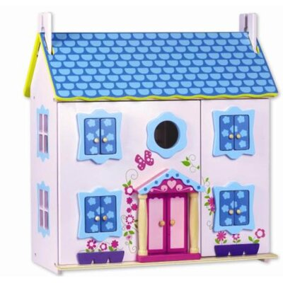Wood Doll House with Furniture by Classic Toy