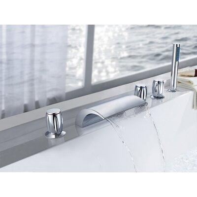 Triple Handle Deck Mount Bath Tub Faucet Product Photo