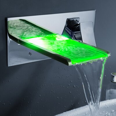 Single Handle Wall Mount Waterfall Bathroom Sink Faucet Product Photo