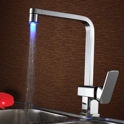 Single Handle Deck Mount LED Kitchen Faucet Product Photo