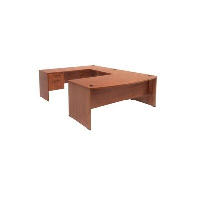 Regency Executive Desk with Bow Front