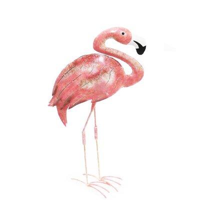 Flamingo Iron Décor Statue by D-Art Collection