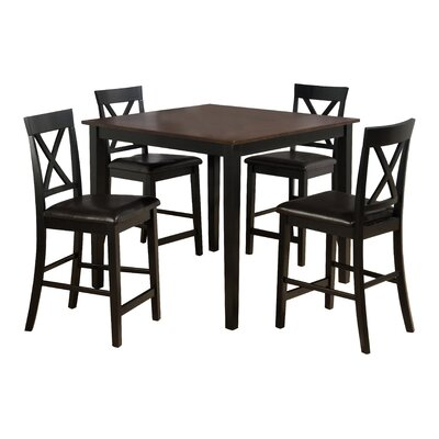Burly 5 Piece Counter Height Dining Table Set by Jofran