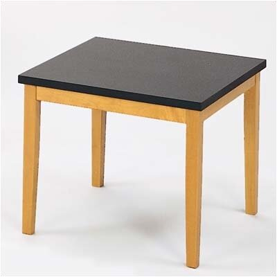 Lesro Lenox Corner Table with Black Melamine Top