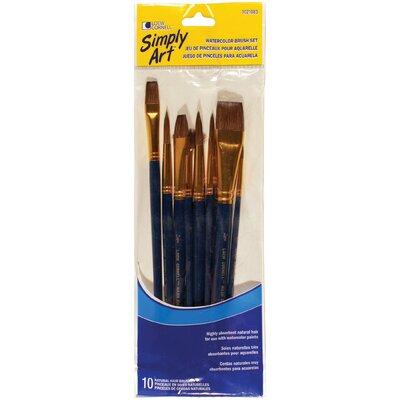 Loew-cornell 10 Piece Acrylic Brush Set