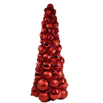 Queens of Christmas 2' Red Ornament Tree