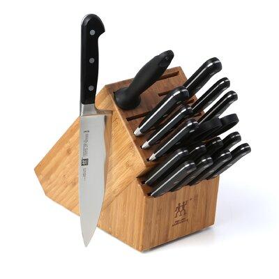 """Zwilling JA Henckels Pro """"S"""" 18 Piece Cutlery Block Set"""
