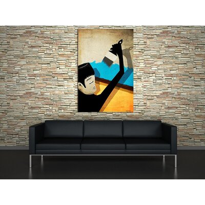 """Maxwell Dickson """"Roof Paint"""" Graphic Art on Canvas"""