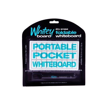 Writey Board Wall Mounted Whiteboard, 1' x 1'