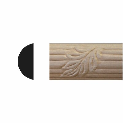 Manor House 3/8 in. x 7/8 in. x 8 ft. Hardwood Emboss Cane Leaf Moulding