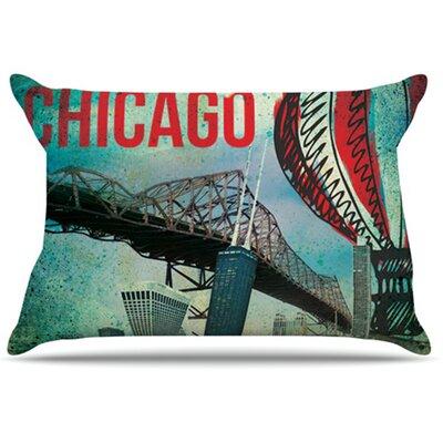KESS InHouse Chicago Pillowcase