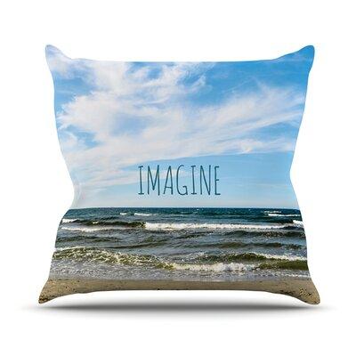 Imagine by Iris Lehnhardt Beach Sky Throw Pillow by KESS InHouse