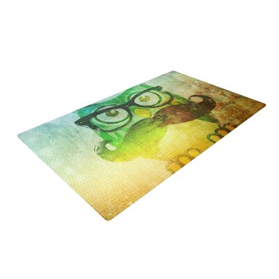 Howly Yellow Area Rug by KESS InHouse