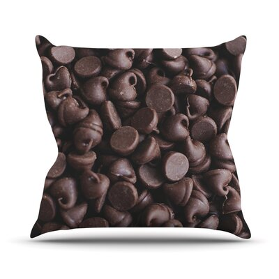 Yay! Chocolate by Libertad Leal Candy Throw Pillow by KESS InHouse