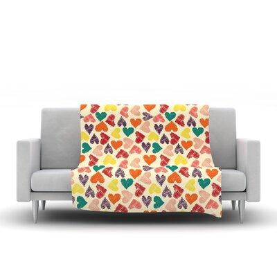 Little Hearts Throw Blanket by KESS InHouse