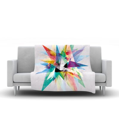 Colorful by Mareike Boehmer Fleece Throw Blanket by KESS InHouse